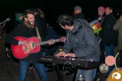 Auch Straßenmusiker gab es am Rande des Rixdorfer Weihnachtsmarkt