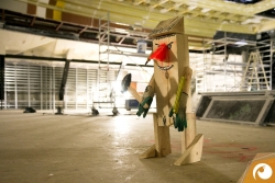 Die Bauarbeiter begrüßen die Baustellenbesucher | Staatsoper Berlin