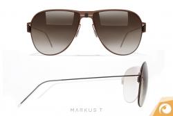 Markus T. Me2 - schicke Sonnenbrille aus hochwertigem Titan   Offensichtlich Berlin