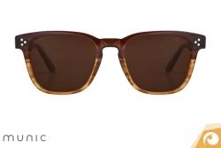 Sonnenbrille Mod. 9 c.417 von Munic in zeitlosem Design mit Farbverlauf   Offensichtlich Berlin