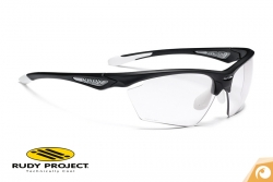 Rudy Project - Stratofly -black-glosswhite-photoclear Sportbrille Fahrradbrille | Offensichtlich Optiker Berlin