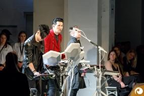 elektronischer Livemusik auf der FashionWeek-FRAMERS-MAISONNOEE